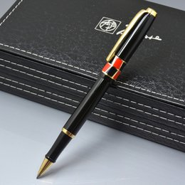 $enCountryForm.capitalKeyWord Canada - 2017 new arrival Picasso brand black metal Roller ball pen with Gold Clip school office stationery luxury writing business gift ball pens