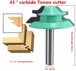 "bits cutting tool Canada - 1PC 45 Degree Lock Miter Router Bit 1-1 2"" Diameter 1 4"" Shank Wood Cutter for Woodworking Hand Tools"