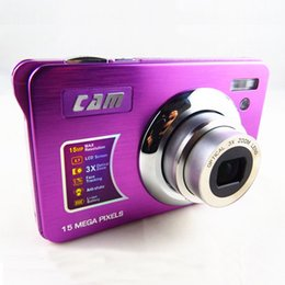 shoot video NZ - Wholesale-Optical Zoom Camera photos 15MP 3 X Optical zoom 2.7''Screen Lithium rechargeable battery Full HDMI video function
