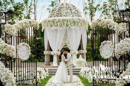 "China 80""(200cm) Super Long Artificial Silk Flower Hydrangea Wisteria Garland For Garden Home Wedding Decoration Supplies suppliers"