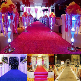 Discount x movies - Wide 1 m x Length 10 m Shiny Wedding Aisle Runner Pearlscent T Station Carpet 25 Colors Available Free Shipping
