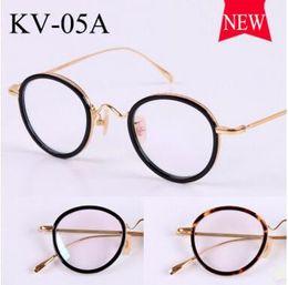 e3ec2d25b8 Gold glass frame VINTAGE frames KV-05A male ultralight myopia restoring  ancient ways smooth light round framework
