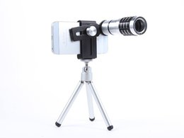 Chinese  Universal 12X Optical Zoom Camera Telephoto Telescope Lens + Mount Tripod Kit for iPhone Android Mobile Phones smartphone manufacturers