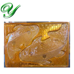 Wholesale Gift Boxes For Chocolates UK - cake boxes for Koi Fish Chocolate mold Pudding Jello Steam Rice Dessert Plastic jelly mould stand tray gold gift box decoration packaging