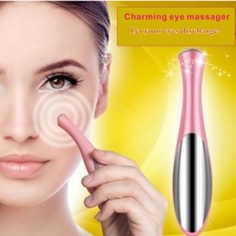 Instrumento de importación de iones ultrasónicos, instrumento para masaje de ojos, maquillaje de ojos, herramientas de productos de belleza, crema de ojos, cuidado de la loción, cuidado de los ojos, eliminación de ojo negro. en venta