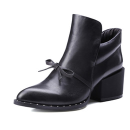 booties for women UK - 2017 New Shoes Woman Spring Autumn Ankle Boots For Women Genuine Leather Booties Fashion Ladies Martin Short boots