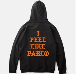 $enCountryForm.capitalKeyWord NZ - High Quality Mens Kanye West I Feel Like Pablo Hoodie Male Cotton The Life Of Pablo Hooded Sweatshirt Hoodies