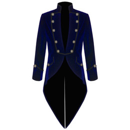 Chinese  Velvet Bule Swallow Tailed Coat Custom Made Fashion Men Suits Formal Party Prom Blazer Latest Coat Pant 2017 Hot SaleJacket+Pant manufacturers