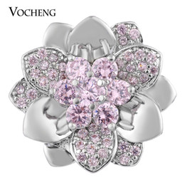 Jewelry stone material online shopping - NOOSA Snap Charms Luxury Floral CZ Stone Jewelry Copper Material mm Colors Vn