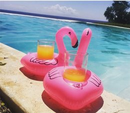 Wholesale Flamingos Donut Watermelon Lemon Pineapple Inflatable Drink Cup Holder Bottle Holder Floating Lovely Pool Bath Toy For Beach PartyM0396