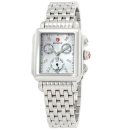 Mop diaMond online shopping - New Deco White MOP Diamond Dial Steel Ladies Watch MWW06P000014