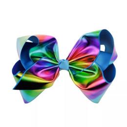 $enCountryForm.capitalKeyWord UK - Holographic Jojo Bows Grosgrain Cheer Leaders Hologram Hair Bows Jojo Siwa Style Hair Accessories Christmas Jojo Bow Team Spirit Hair Wea