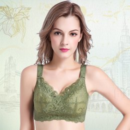 $enCountryForm.capitalKeyWord Canada - New Large Size Lace Sexy Wire Free Without Bra Thin Cup Plus Size Women Bra BCDEFG Cup Push Up Bra