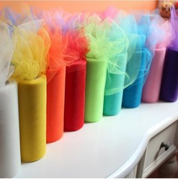 $enCountryForm.capitalKeyWord NZ - 53 colors 1pc 22mX15cm Wedding Table Runner Decoration Yarn Roll Crystal Tulle Organza Sheer Gauze Element wedding favors