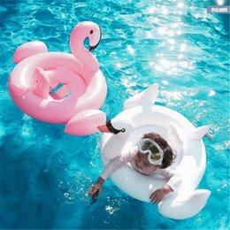 Inflatable Pools For Babies Canada - Pool Float Inflatable Flamingo Beach Children Swan Swim Ring Baby Animal Water Swimming Laps for Summer Swimming Inflatable Pool Toys