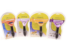 Plastic trimmer blades online shopping - Pet Dog Cat Hair Trimmer Shedding Cat Dog Long Short Fur Hair Brush Comb Grooming Tool free DHL