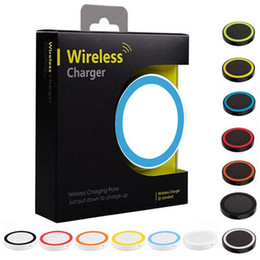Discount chargers for cell phones iphone - S6 Qi Wireless Charger Cell phone Mini Charge Pad For Qi-abled device for Samsung nokia htc LG for iphone 5 6 7 with ret