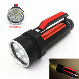 Scuba dive flaShlight online shopping - 200m Underwater Scuba Diving x CREE XM L2 T6 Lm LED Light Flashlight Torch Lamp Waterproof Diver Lamp Lanterns