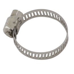 tube pipe clamps Canada - 10pcs Stainless Steel Hose Clamps Pipe Clamp Air Water Tube Clips Fit Hose Size 6-27mm