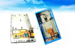 Lcd Touch Screen Housing NZ - Touch Screen Glass Sensor Digitizer &LCD Display Panel Screen Monitor Assembly+Frame+Blue Housing For Nokia LUMIA 800 N800