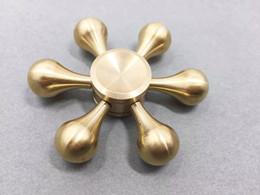 sport cooper 2019 - Brass Hexagonal Drop-shaped Fidget Spinner Hexa-spinner EDS Anti-stress Metal Spinners Cooper Fidget Spinner Decompressi