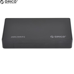 Discount free external hard drives - Wholesale- ORICO 3.5 Inch HDD SSD External Hard Drive Enclosure Interface USB3.0 to SATA I,II,III Tool Free PC Hard Disk