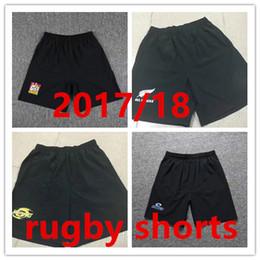 2017 nuovo arrivo rugby maglie Nuova Zelanda crociati Blues Chiefs Highlanders Hurricanes top quality vendite calde pantaloncini da rugby Taglia S-3XL in Offerta