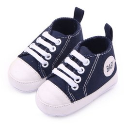 $enCountryForm.capitalKeyWord NZ - Wholesale- Infant 0-12M Toddler Canvas Sneakers Kids Baby Boy Girl Soft Sole Crib Shoes First Walkers