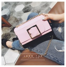 $enCountryForm.capitalKeyWord Canada - Joe Barney 2017 new Korean fashion chain small square bag simple shoulder bag oblique trend of handbags