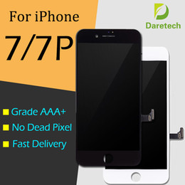 Grade A +++ Display LCD Touch Digitizer Frame Assembly Repair Para iPhone 7 7 Plus DHL grátis