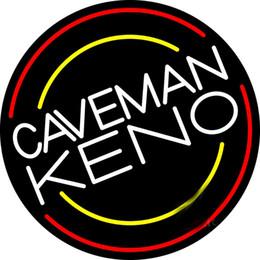 "$enCountryForm.capitalKeyWord UK - Caveman Keno Neon Sign Custom Handmade Real Glass Tube Beer Bar KTV Club Pub Shop Store Advertising Display Neon Signs Light 16""X16"""