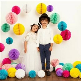 Decorative paper ball online shopping - Decorative Paper Balls Party Decorations Paper Honeycomb Ball Lantern Party Decor Craft Wedding Party Supplies IC730