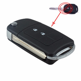 remote key shell toyota corolla NZ - Guaranteed 100% 2 Buttons Uncut Flip Remote Key Shell Case Fob for Toyota RAV4 Corolla Avalon Free Shipping