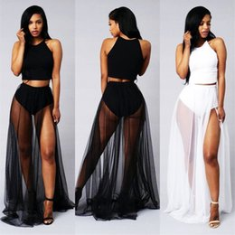 Sheer Maxi Skirt Splits Online | Sheer Maxi Skirt Splits for Sale