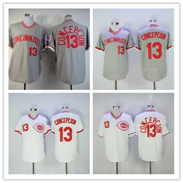 8e6288f4f ... cincinnati reds throwback 13 dave concepcion baseball jerseys cheap  white grey cooperstown vintage . ...