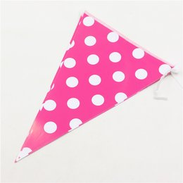 China Wholesale- 2.5 Meter Colorful Dot Paper Banners Flags kids birthdays Backdrop decoration for Birthday Party Wedding New Year Christmas cheap banner backdrop suppliers
