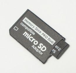 Envío al por mayor-libre 50pcs / lot Micro SD SDHC TF al adaptador de Memory Stick MS Pro Duo PSP