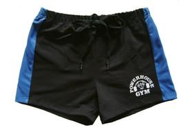 Fitness gyms online shopping - Brand Cotton Men s Gym Shorts Gold Powerhouse Shark Shorts Fitness Men Bodybuilding Workout Sports Training Running Shorts