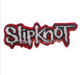 "heavy metal band patches 2019 - 4.5"" SLIPKNOT Logo Music Band Iron On Sew On Patch Heavy Metal Tshirt TRANSFER MOTIF APPLIQUE Rock Punk Badge Whole"