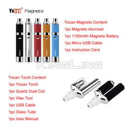 Torch vapor online shopping - Yocan Torch Vaporizer Kit Wax Pen Kits Yocan Magneto Wax Vapor Pen kit mah Wax pen Ceramic Coil of E cigarettes free ship