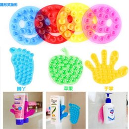 Jouet En Succion En Plastique Pas Cher-Vente en gros - 10pcs / lot Nouveau jouet Élastique à double face double ventouse en PVC Suction Cup, Double Magic Plastic Sucker en salle de bain jouets enfant paume de la main