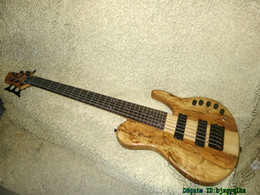 custom basses china NZ - Custom Shop Bass Guitars 6 Strings Electric Bass ONE Piece Neck OEM From China