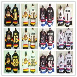fdfed6800 Cheap Ice Hockey 10 Pavel Bure 16 Trevor Linden 89 Alexander Mogilny Jersey  Vancouver Canucks 1 Kirk Mclean 19 Markus Naslund CCM