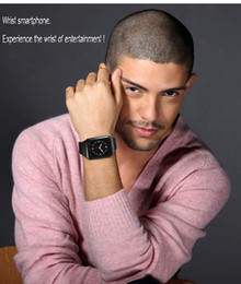 "Smartwatch Gps Wifi Camera Australia - 1pcs Stock ZGPAX S8 1.54"" Android 4.4 MTK6572 Dual Core Smartwatch 3G Phone Watch With GPS Wifi 2.0M Camera"
