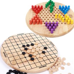 $enCountryForm.capitalKeyWord NZ - Children wooden toys 6 Angle Checkers + Gobang game kids intelligence Educational Supplies toys best Gifts for Children