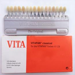 Al por mayor-Nuevo Dentista Dental Dientes Whiting Porcelana VITA Pan Clásica 16 Color Shade Guide Dientes en venta