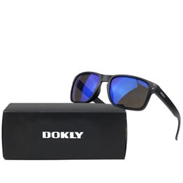 Wholesale Dokly brand men Sports sunglasses fashion sunglasses Designer Helm Multicolour Coating Lens Sunglasses Men Oculos De Sol