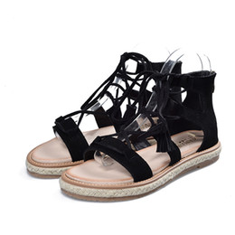 Chinese  New Summer Girls Cross Strap Sandals High Gladiatortall Sandals For Women Boot Sandals Shoes 3 colors. LX-047 manufacturers