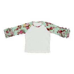 218e9ea4cce Floral Icing Baby Girls T-shirt Fashion Autumn Winter Ruffle Sleeve Girls  Tees Hot Sales Children Icing Raglan T-shirt