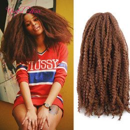 marley braiding hair wholesale Canada - synthetic blonde kinky curly 18inch Afro kinky marley braid curly hair extension 100 grams marley braiding hair crochet braids hair bolote